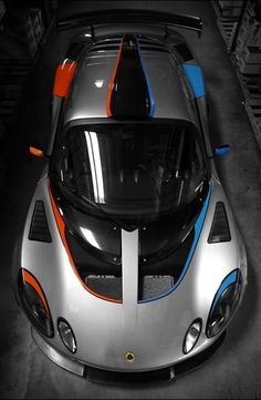 Lotus Exige Gray Blue and Orange | repinned by an #advertising agency from…