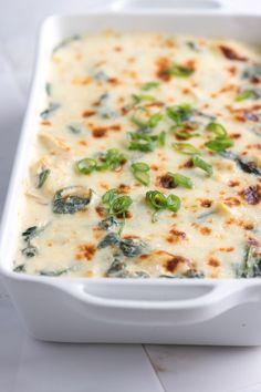 Unbelieveably creamy spinach artichoke dip! #dip #food #recipe