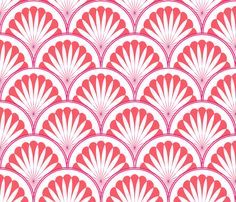Pink Coral Violet Art Deco pattern, reminiscent of the beautiful art direction in the film Victor Victoria.