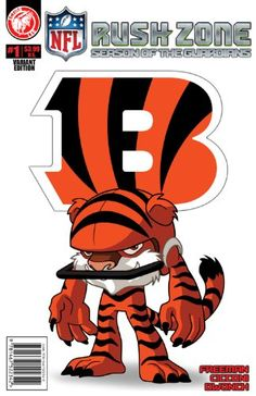 NFL Rush Zone: Season Of The Guardians #1 - Cincinnati Bengals Cover - http://www.cincyshop.net/books-about-cincinnati/nfl-rush-zone-season-of-the-guardians-1-cincinnati-bengals-cover/