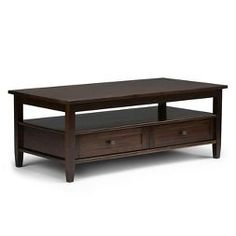 Warm Shaker Coffee Table - Tobacco Brown - Simpli Home