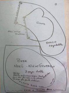 patron muneco papa noel tela (1)