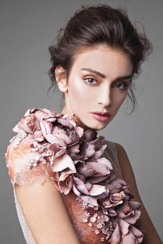 Fashion Friday: Krikor Jabotian Dahlia Collection   Voluptuous   Volume   Decadent   Lace   Beading   Luxe   Gorgeous   http://brideandbreakfast.hk/2016/01/29/krikor-jabotian-dahlia-collection/