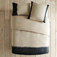 dip dyed bedding