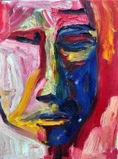 Head , Oil on canvas ,40 cm x 30 cm