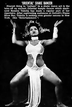 Rosalee Takella, Oriental Shake Dancer (Exotic Dancer) - Jet Magazine, November 27, 1952