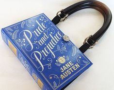 Pride and Prejudice Book Purse - Jane Austen Book Clutch - Bookish Wedding Theme Handbag - Jane Austen Collector Gift - Anniversary Gift