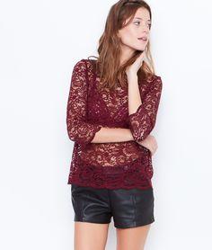 Short effet cuir - Shorts - Pantalons & shorts - Vêtements - Prêt-à-porter