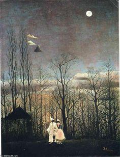 'Carnaval Soirée', huile sur toile de Henri Rousseau (1844-1910, France)