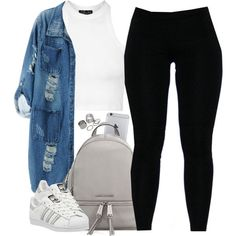 A fashion look from May 2016 featuring Topshop tops, Chicnova Fashion coats and adidas sneakers. Browse and shop related looks.
