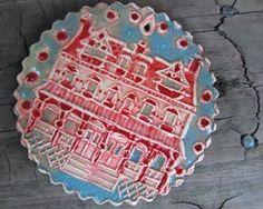 trinity place, west philadelphia ceramic by Red Windmill Studio