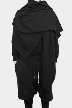 Visions of the Future: dark fashion with layers Mode Cyberpunk, Cyberpunk Fashion, Style Noir, Mode Style, Dark Fashion, Mens Fashion, Fashion Outfits, Fashion Clothes, Street Fashion