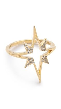 Elizabeth and James Northern Star Open Star Ring- love stars on jewelery Jewelry Box, Jewelry Accessories, Fashion Accessories, Fashion Jewelry, Jewlery, Star Jewelry, Fashion Rings, Gold Jewelry, Jewelry Rings