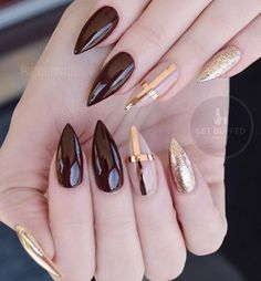 Almond nails are very popular especially among young girls, although middle aged ladies like to wear it also. Shape is ideal for those with shorter fingers because it will visually elongate.