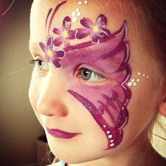Purple flower butterfly design