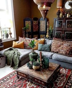 30 Inspiring Bohemian Living Room Ideas For Your Home. 30 Inspiring Bohemian Living Room Ideas For Your Home. Compromise is a critical life skill that enters every dimension of life-even decorating your living room. When you are thinking […] Bohemian Living Rooms, Bohemian Room, Bohemian Homes, Hippie Living Room, Hippie Bohemian, Dark Bohemian, Hippie House, French Bohemian, Bohemian Lifestyle
