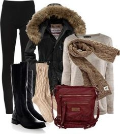 """""""Winter Cozy"""" by orysa ❤ liked on Polyvore by lupita m"""