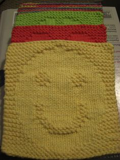 Smiley Dishcloth