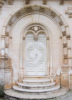 Gothic door from old palace in Portugal.