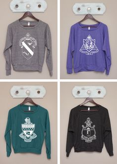 ✯✯ super sweet spotlight ✯✯ cuddle up in these cute & casual sorority crest pullovers from The Greek Supply!! perfect cozy comfort for FALL!! http://www.thegreeksupply.com/