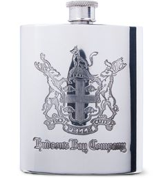 Hudson's Bay Company Pewter Keeping Canadians Warm Flask | HYPEBEAST Store. Hypebeast Store, Energy Conservation, Hudson Bay, Flask, Pewter, Branding Design, Warm, Accessories, Tin Metal