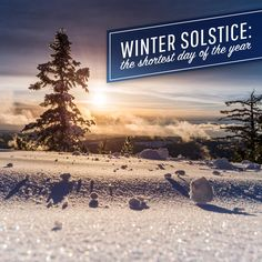 TODAY IS THE WINTER solstice, the day the northern hemisphere gets the shortest amount of sunlight in the year! Can you finish that Christmas shopping before the sun goes down?