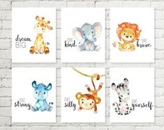 Baby Animal Safari Nursery Art Jungle Print Set, Giraffe Elephant Lion Printable Baby Shower Wall Art 5x7 8x10 11x14 A4 Instant Download - #11x14 #5x7 #8x10 #A4 #Animal #art #Baby #babyshower #Download #elephant #Giraffe #Instant #Jungle #Lion #nursery #print #Printable #Safari #set #shower #Wall