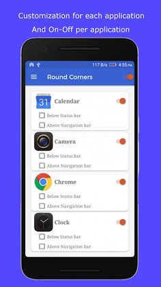 Round Corners v1.6 [Paid]   Round Corners v1.6 [Paid]Requirements:4.2Overview:Pimp your screen with round screen corners the primary purpose of the Round corners app is to round the corners of your display regardless of the device youre using.  Its rounded UI like LG G6 round corners youll be able to modify the degree to which the app will round the corners of your screen.  Round up the squared corners with 40 superimpose curvy designs for your screens 4 corners.(allows specifying which…