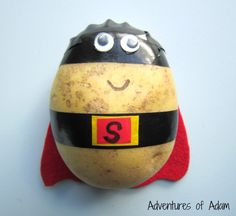 Make your own Supertato Easy to make Supertato Superhero Preschool, Superhero Classroom, Superhero Party, Day Camp Activities, Eyfs Activities, Preschool Activities, Toddler Crafts, Preschool Crafts, Kids Crafts