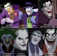 Joker versions Comic Book Heroes, Comic Books, Joker Character, Dc Comics, Circus Costume, Evil Geniuses, Joker And Harley Quinn, Bat Family, Geek Out