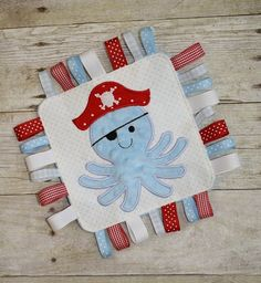 Octopus Pirate Loopie Blanket In The Hoop Embroidery Machine Design for the 6x10…
