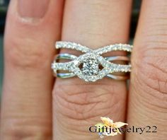 1.48 CT. 14k White Gold Plated Engagement Wedding Bridal Ring Set In 925 Silver #giftjewelry22