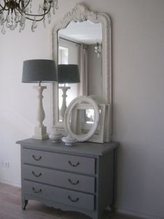 Inspiration for guest room vanity whenever I get around to painting it...