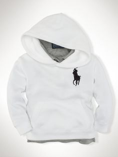 French-Rib Big Pony Hoodie - Sweatshirts & Tees   Infant Boy (9M–24M) - RalphLauren.com