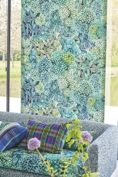 Vert Turquoise, Designers Guild, Curtains, Quilts, Blanket, Rugs, Bed, Fabric, Collection