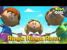 """Ringa Ringa Roses English Nursery Rhyme For Children Watch this famous nursery rhyme """" Ring a Ring o' Roses """" This rhyme is the favo. Kids Nursery Rhymes, Rhymes For Kids, Numbers For Toddlers, Play Doh Fun, Phonics Song, Alphabet Songs, Short Stories For Kids, Happy Children's Day"""