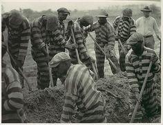 Prison Work Crew (ca. 9 Members) Digging Trench and 1 Guard] Artist: Doris Ulmann (American, 1882–1934) Date: 1929–30, printed 1934