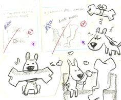 """Primeiros roughs (desenhos/rabiscos) para meu livro infantil """"Cachorro Preto! Cachorro Branco!"""""""