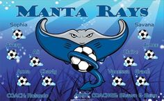 Rays-Manta-154088  digitally printed vinyl soccer sports team banner. Made in the USA and shipped fast by BannersUSA. www.bannersusa.com