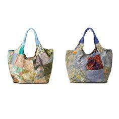 UPCYCLED INDONESIAN BATIK BAG   Fair trade tote bag, handmade Indonesian batik bag   UncommonGoods $35 each