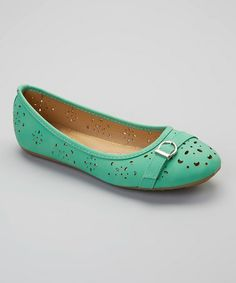 Love this Teal Cutout Buckle Flat by Tory Klein on zulily! I want this in every color!