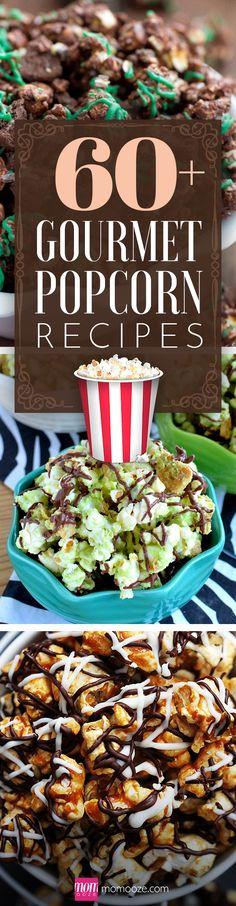 60+ Gourmet Popcorn Recipes to Spice up your Movie Night #popcorn #gourmet #movienight
