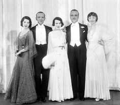 Tillie Losch, Fred Astaire, Adele Astaire, Frank Morgan and Helen Broderick. (1931)