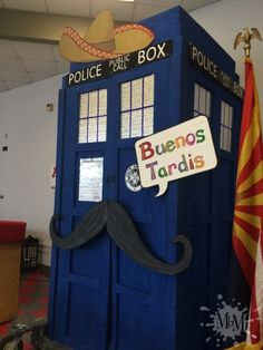 Buenos Tardis: Doctor Who Goes Mexican (See how a Doctor Who Theme was combined with a mexican fiesta. Tardis, Doctor Who, Murals, Nerdy, My Love, Projects, Diy, Painting, Log Projects
