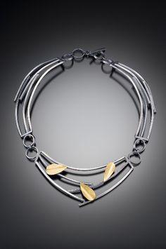 Petals and Sticks Necklace Lori Gottlieb