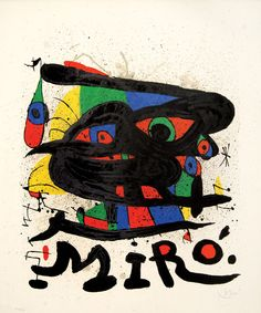 """Joan Miró - Miró Sculptures, 1971. Edition of 150. Signed in pencil lower right by Miró, numbered lower left. Printed to coincide with the exhibition """"Miró Sculptures"""" at the Walker Art Center, 3 Oct–28 Nov 1971."""