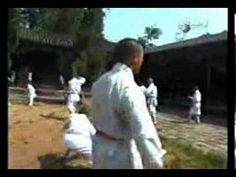 Warrior Shaolin monk Shi Xing Hong.  This was on Discovery channel.  I could find only this version on Youtube.  Watch from 2:00 onward to see the broad sword, the chain whip and the spear.  The broad sword and Chinese spear is part of our weapons training but what Master Hong does is amazing.  Just watch....