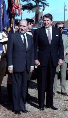 President Ronald Reagan and French President François Mitterrand, 1981