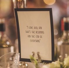 This couple named their tables after films but only supplied a quote from that film - guests had to guess which film their table was named after. The perfect icebreaker!