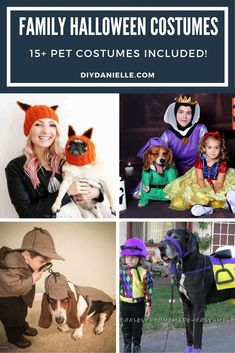 15  Halloween Costume ideas if you want to dress up with your pet. Dog costumes, cat costumes, horse costumes, and people costumes! #halloweencostume #diycostume #halloween Pugs In Costume, Baby Costumes, Horse Halloween Costumes, Halloween Kids, Dogs And Kids, Family Costumes, Diy Stuffed Animals, Costume Ideas, Cat